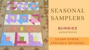Seasonal Samplers APPLIQUÉD BUNNIES