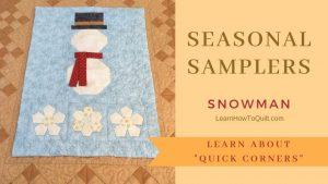 Seasonal Samplers SNOWMAN
