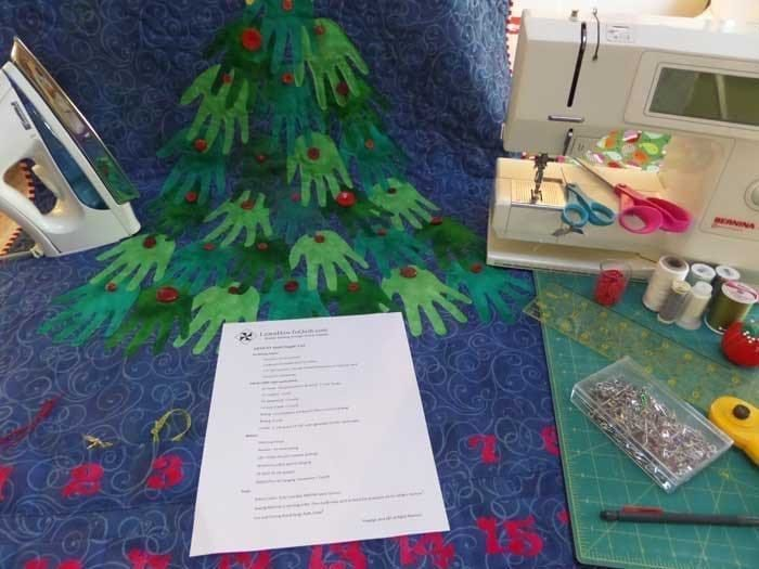 Supplies for Advent Quilt