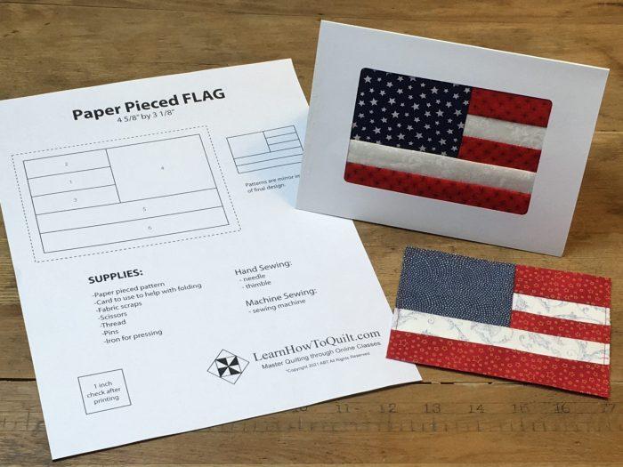 Card with flag