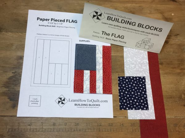 Paper Pieced Flag Kit
