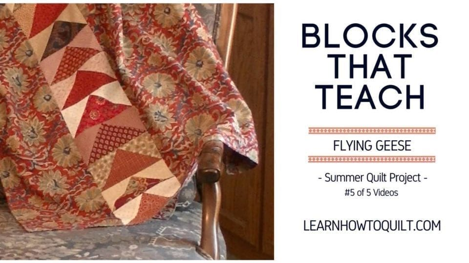 Flying Geese Summer Quilt