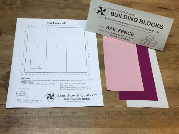 Fabric for RAIL FENCE