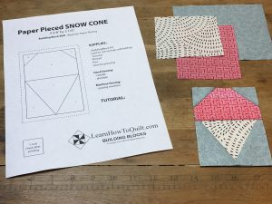 Paper Pieced Snow Cone