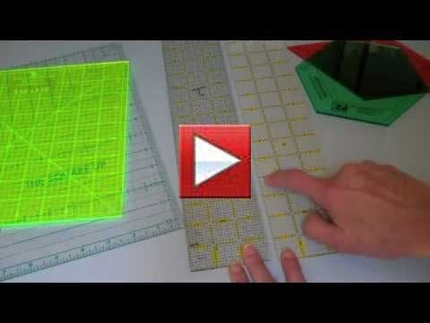 Learn about different acrylic rulers in this short video.