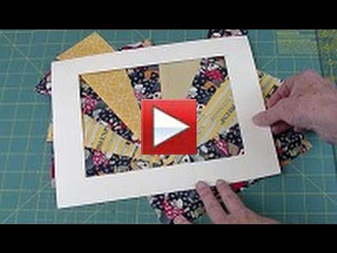 crazy or free form quilting - the fan