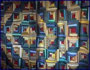 crazy log cabin quilt