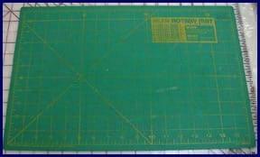 cutting board for fabric