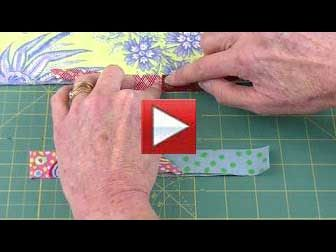double fold binding, diagonal seams