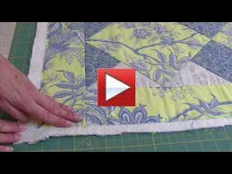 preparing quilt for binding