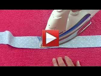 double fold binding, pressing strips