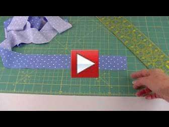 double fold binding, sewing strips