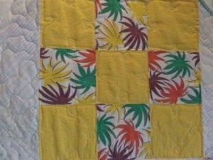 palms feed sack/contemporary fabric