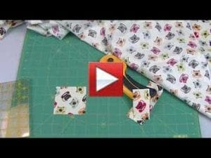 Making half square triangles using your rotary cutter