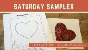 Heart Applique for Saturday Sampler