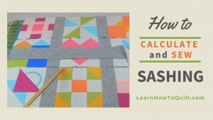 How to calculate and add sashing