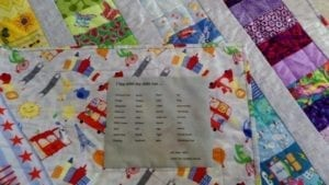 I Spy Quilt Label
