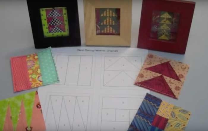 Paper Piecing - 4 Blocks
