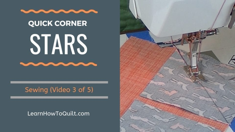 Sewing Quick Corners on Star Quilt