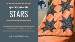 Quick Corner Star Video-Quick Look #1