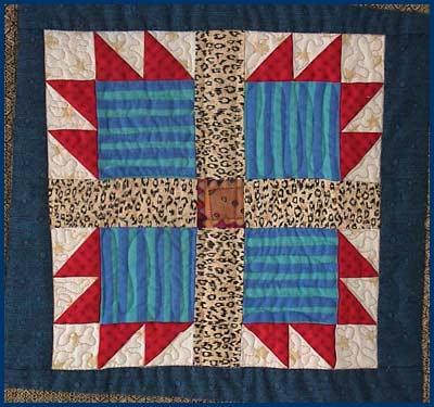 sampler bear quilt