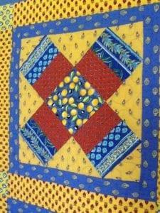 blue yellow sampler