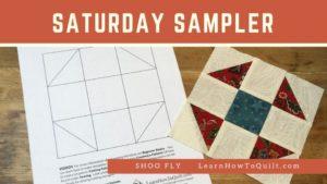 Shoo Fly for Saturday Sampler