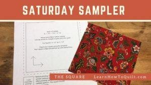 square for Saturday Sampler