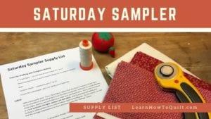 Saturday Sampler Supplies