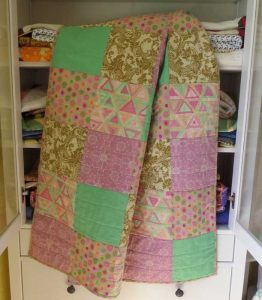 quilt made from squares