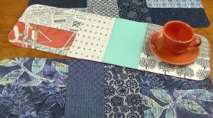 Matchstick Quilting on Table Runner