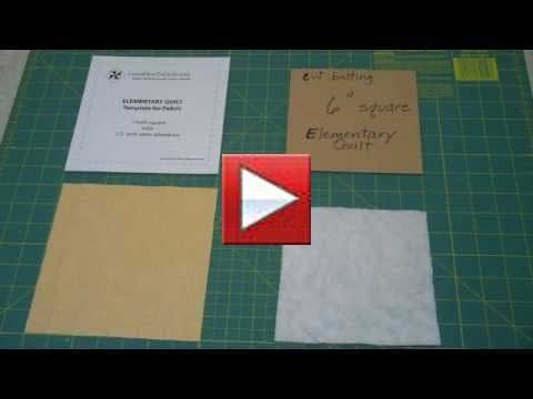 using a template to cut fabric