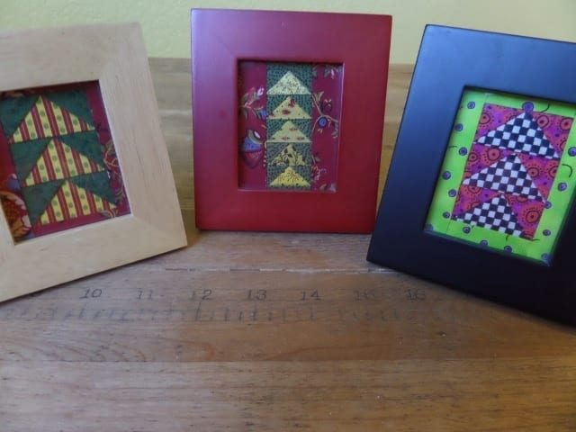 Flying Geese Picture Frame Project